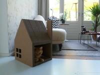 Krabhuis, una casa de cartón bonita para ti y cómoda para tu gato