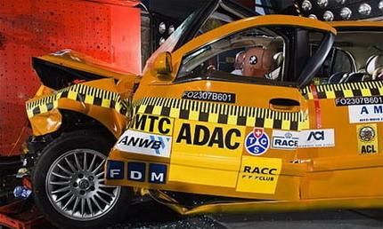 Brilliance BS6 crash test prueba de choque de un coche chino