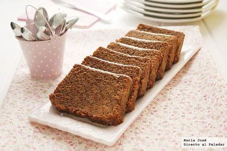 Bizcocho rápido de crema de cacao y avellanas, receta