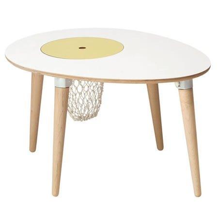 Mesa infantil con cesta para juguetes incorporada - Cama con mesa incorporada ...