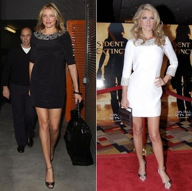 Vestido de Marchesa: ¿Ali Larter o Cameron Diaz?