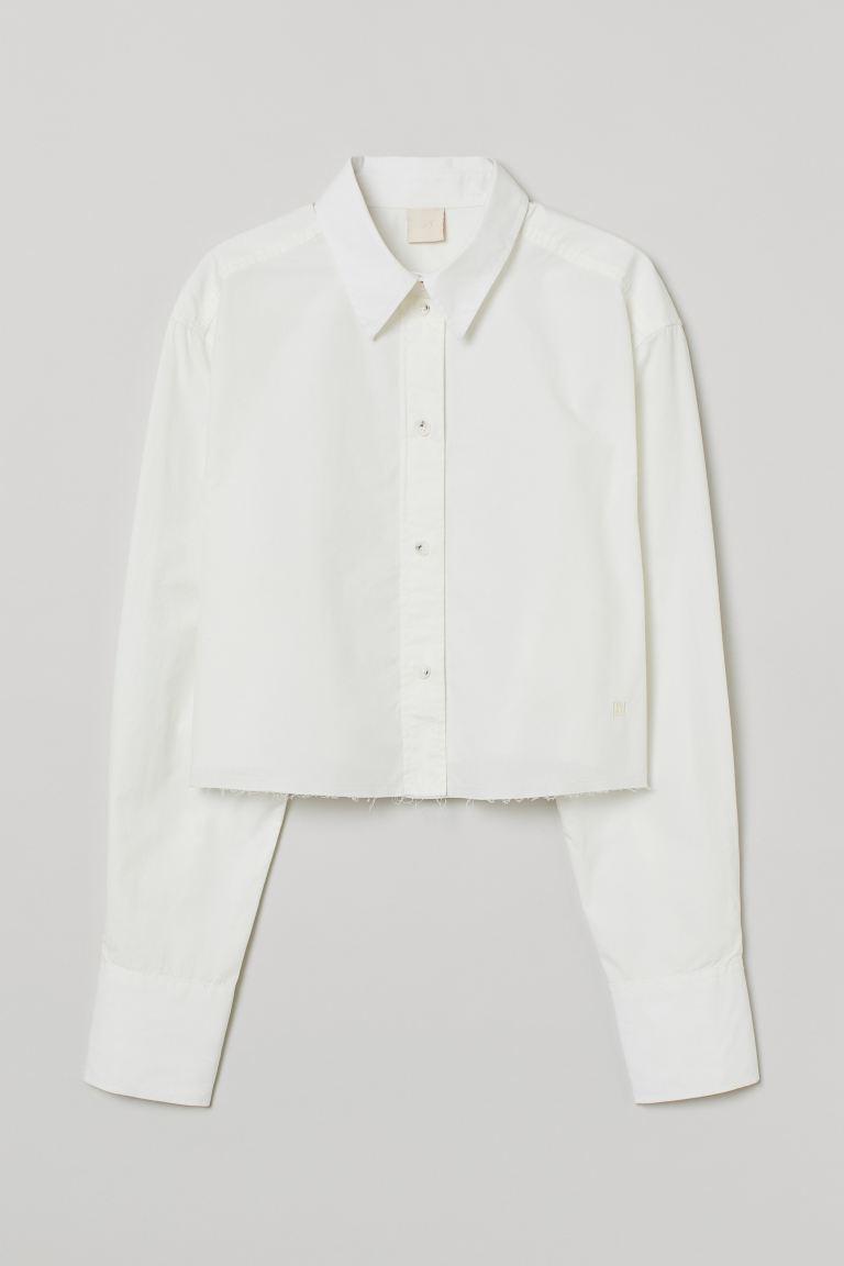 Camisa cropped de algodón