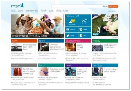 Microsoft presenta un nuevo diseño de MSN.com exclusivo para usuarios de Windows 8