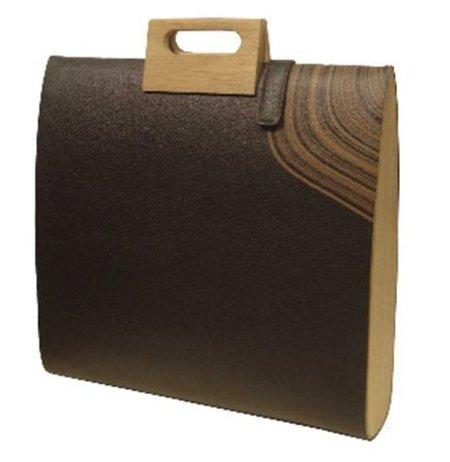 Maletín de madera de roble para tu portátil