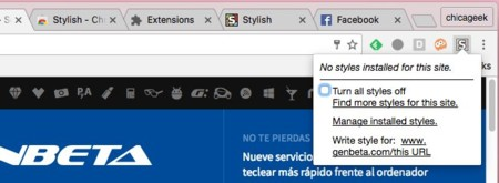 Stylish en Chrome