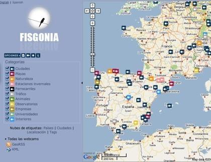 Fisgonia: mapa de webcams de todo el mundo