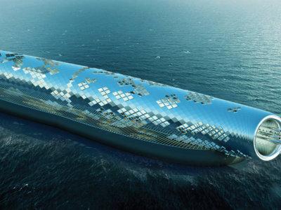 Este enorme tubo futurista se encargará de purificar agua de mar sólo con energía solar