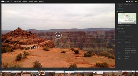 SkyDrive y Windows 8.1 Preview permiten crear y ver imágenes panorámicas