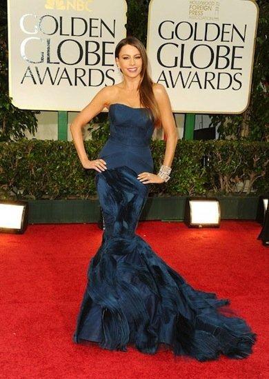 Sofía Vergara o cómo llevar un Vera Wang en la Gala de los Globos de Oro 2012
