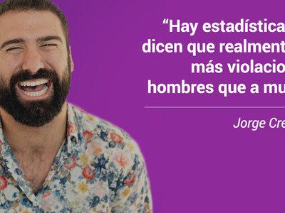 No, Jorge Cremades, no hay más violaciones a hombres que a mujeres