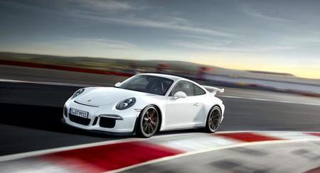 Porsche 911 GT3 blanco lateral