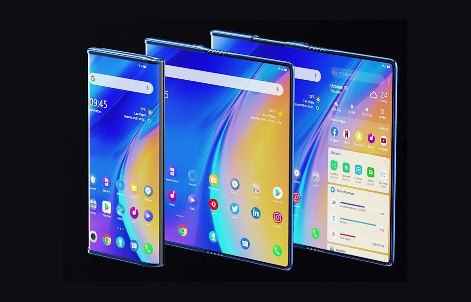 El TCL Fold ?n Roll es un intrigante móvil con pantalla enrollable que se transforma en una tableta de 10 pulgadas