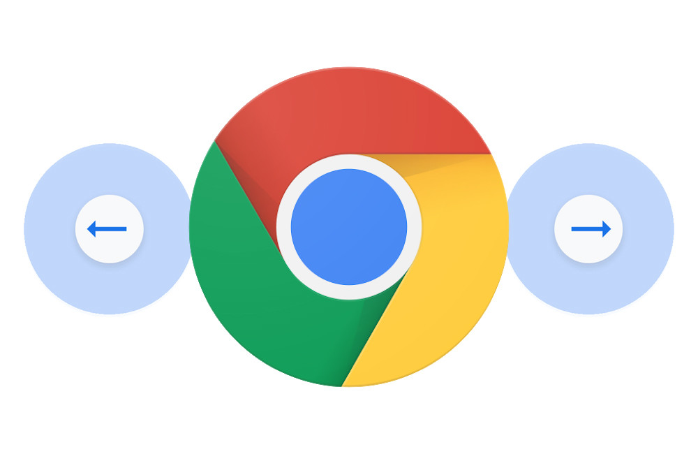 Chrome for Android was inspired by iOS: so you can test your new gesture to navigate in your history