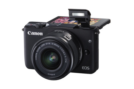 Eos M10 Bk Ef M15 45stm Fsl Flash Up Lcd Up 90