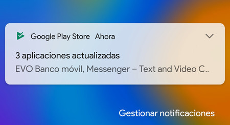 Notificaciones Google Play