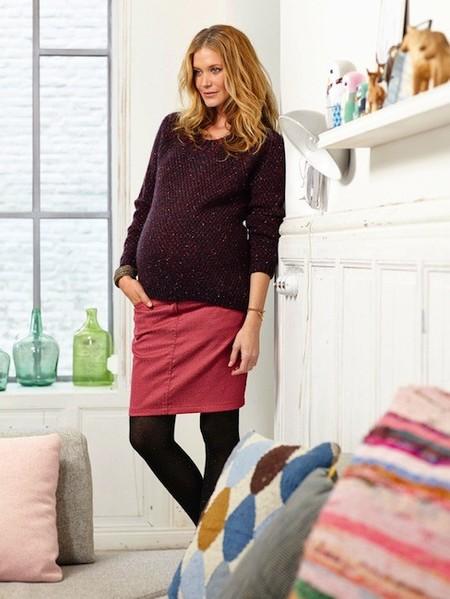 Moda para embarazadas Otoño-Invierno 2014/2015: faldas para lucir piernas