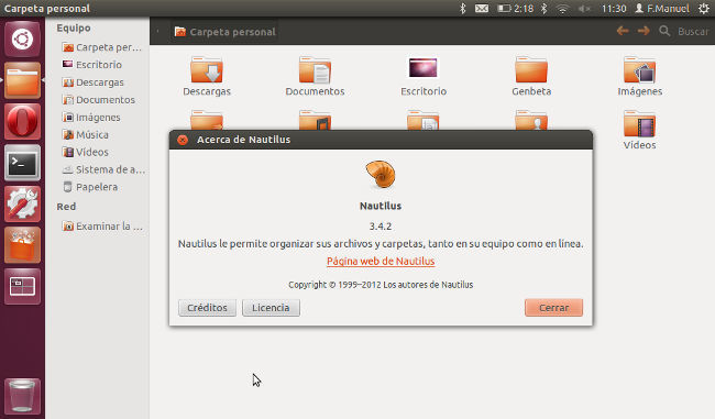 Nautilus 3-4-2 en Ubuntu 12.04 LTS