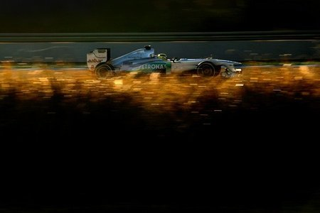 Mercedes probó en secreto el Mercedes W03 en Barcelona