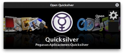 Interfaz Silverflow para Quicksilver
