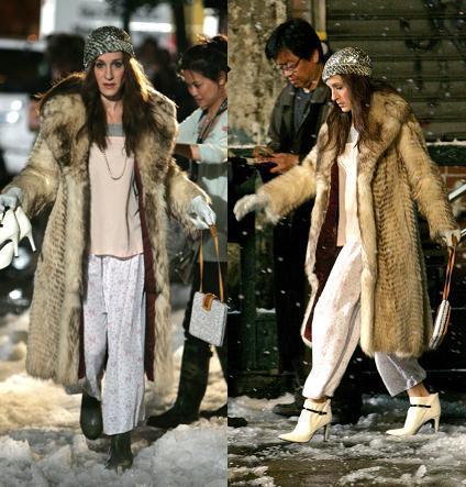 Carrie Bradshaw o cómo salir a la calle en pijama con estilo