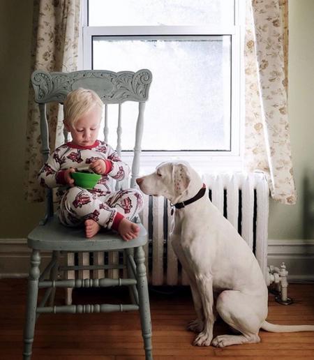 La historia de Nora, la perrita maltratada que superó sus miedos gracias a este bebé