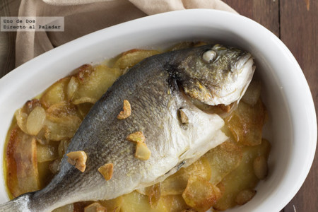 Baked Dorada with Potatoes
