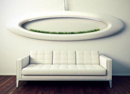 Un jardín sobre el sofá