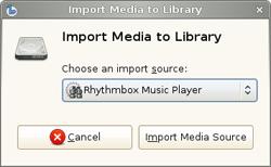 Banshee 1.5.0 - Importación desde Rhythmbox
