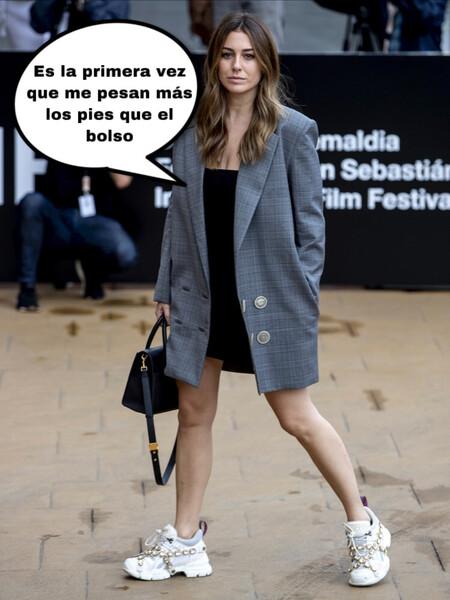 Blanca Gucci se planta unas Suárez de 1200 euros con más brilli-brilli que las uñas de Rosalía ¡Menudas zapas más guapas!