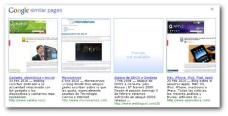 Google Similar Pages: Encuentra webs parecidas mientras navegas con Chrome
