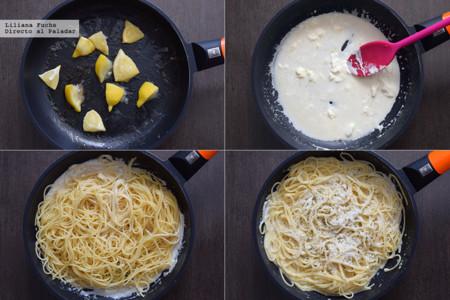 Espaguetis al Limon. Pasos