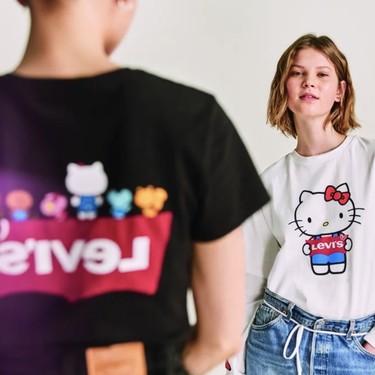 Hello Kitty invade la nueva colección de camisetas (y vaqueros) Levi's