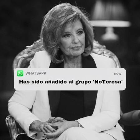 El grupo de WhatsApp para dejar a María Teresa Campos sin casa: los vecinos de Terelu hacen piña para echarla a la calle