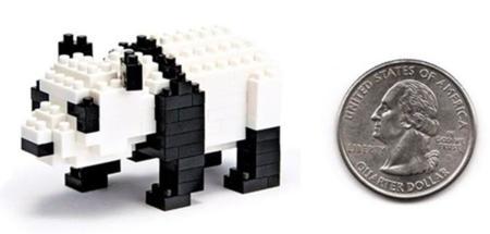 El oso panda de NanoBlock
