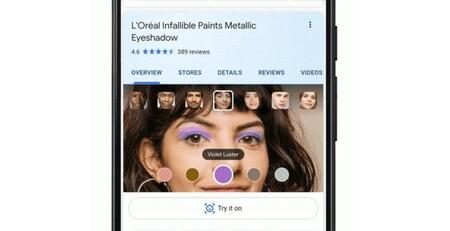 La búsqueda de Google permite probar el maquillaje antes de comprarlo gracias a la realidad aumentada