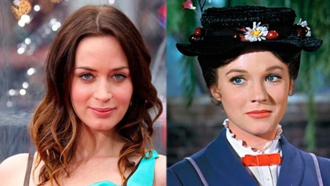 Emily Blunt será Mary Poppins