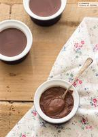 Cómo hacer natillas de chocolate sin huevo. Receta