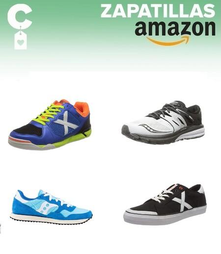 Chollos en tallas sueltas de  zapatillas Munich y Saucony por menos de 35 euros en Amazon