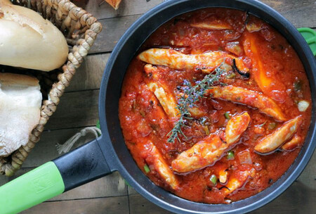Pollo en salsa Arrabbiata