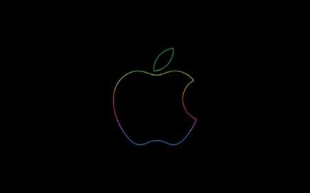 Fondo de pantalla negro apple
