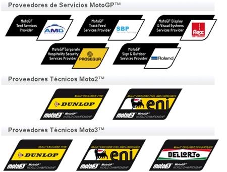 Los patrocinadores en MotoGP 2012