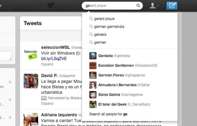 twitter menu busquedas