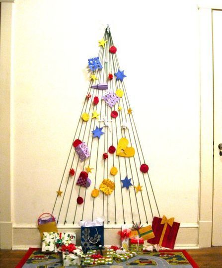 Cinco árboles de Navidad que no ocupan espacio. El que nos gustó más