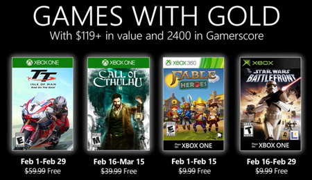 El Star Wars Battlefront de 2004 y Call of Cthulhu, entre los juegos de Games with Gold de febrero de 2020