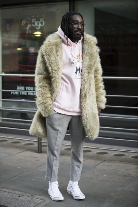 El Mejor Street Style De La Semana Trendencias Hombre Faux Fur Men Fall Winter 2019 02