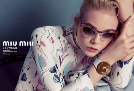 Miu Miu campaña eyewear Primavera-Verano 2014 Elle Fanning