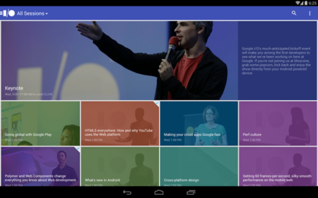 Google I/O 2014, ya disponible su aplicación oficial en Google Play