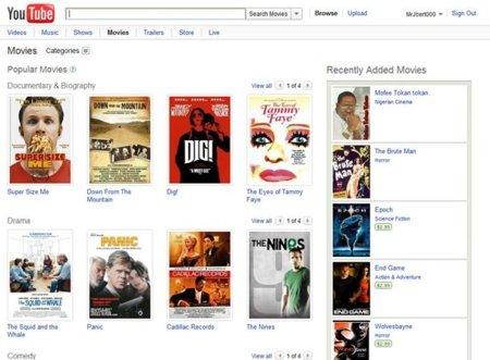 Alquilar películas en Youtube: se hizo realidad