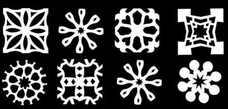 Copos de nieve recortables