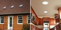 Lámparas de techo que funcionan sin electricidad